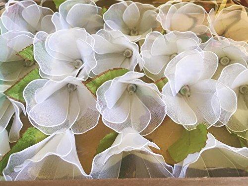 String Lights 20 White Datura metel Flower Fairy String Lights Wedding Party Floral Home Decor 3.5m