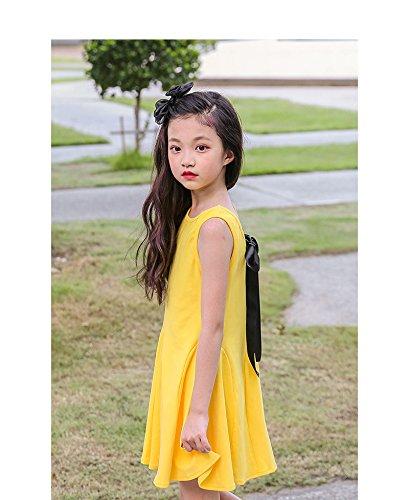 senza a tunica Yellow maniche Acvip Girl Abito g0wnz