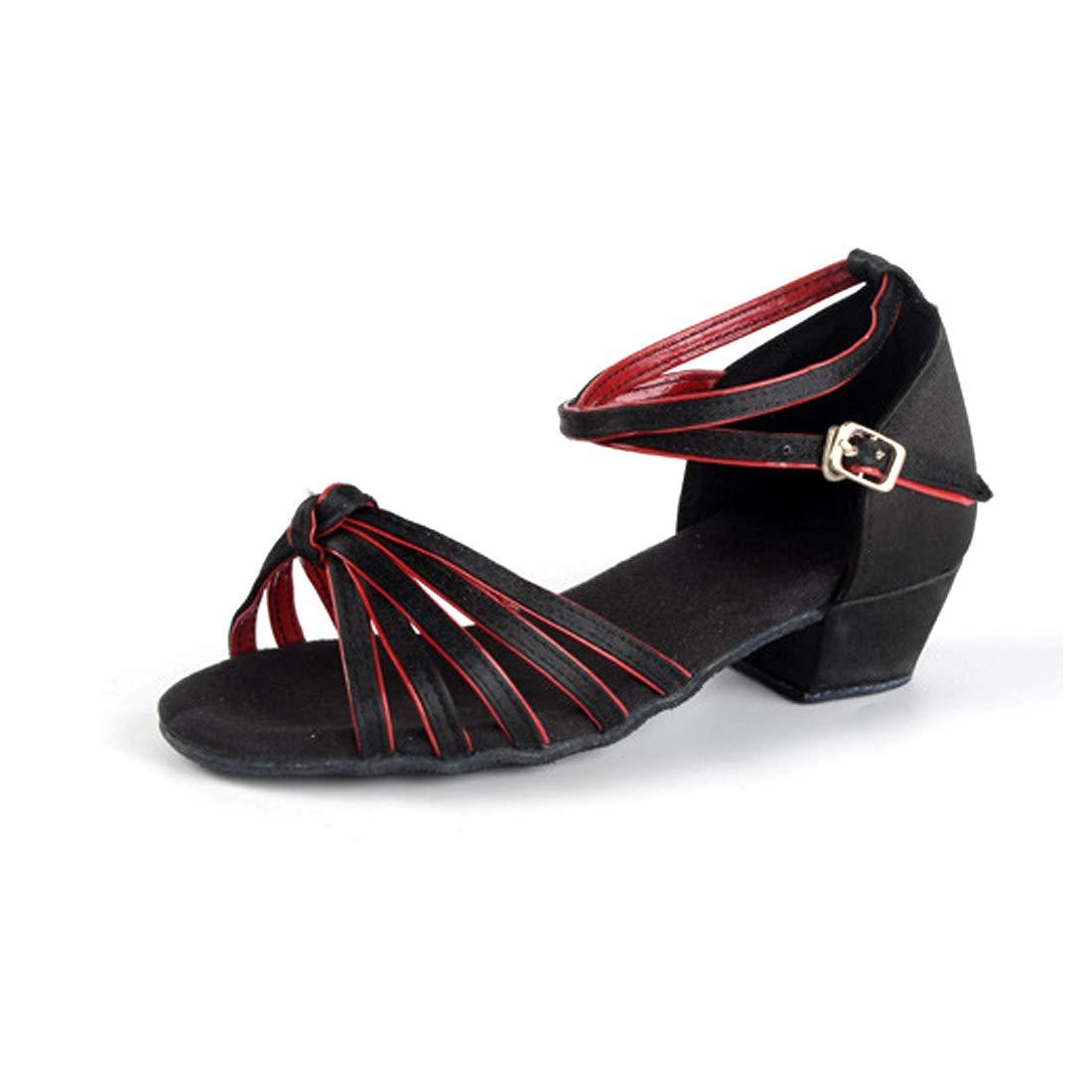 Inlefen Girls Dress Shoes Latin Ballroom Dance Shoes Tango Sequin Salsa Party