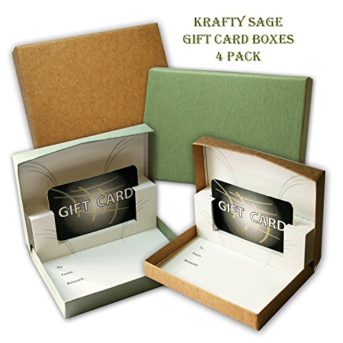 Krafty Sage Gift Card Boxes - 4 Pack