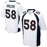 Mens Denver Broncos Von Miller #58 Game Jersey Navy