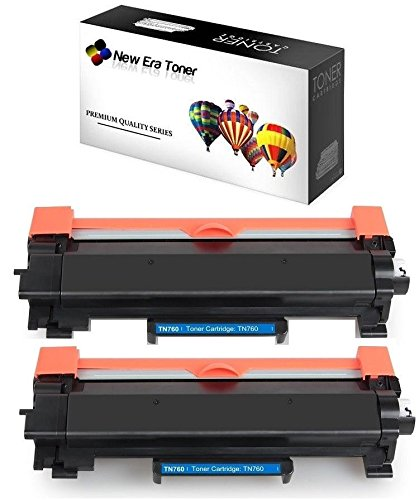 New Era Toner [2 Pack] Replacement Toner Cartridge for Brother TN-760, TN-730 for DCP-L2550DW, HL-L2350DW, HL-L2370DW, HL-L2370DW XL, HL-L2390DW, HL-L2395DW, MFC-L2710DW MFC-L2750DW MFC-L2750DW XL