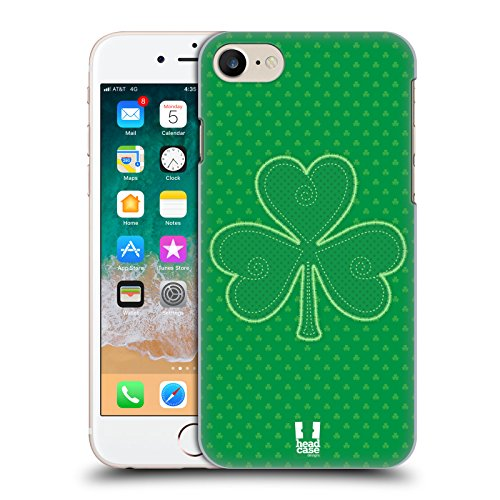 Head Case Designs Applique Shamrock Patterns Hard Back Case for iPhone 7 / iPhone 8