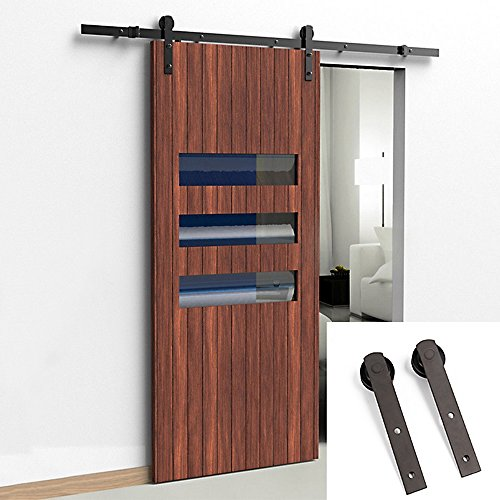 - U-MAX 8 FT Straight Shape Sliding Barn Wood Door Hardware Kit - Smoothly and Quietly-Simple and Easy to Install-Includes Step by Step Installation Instruction-Fit 42