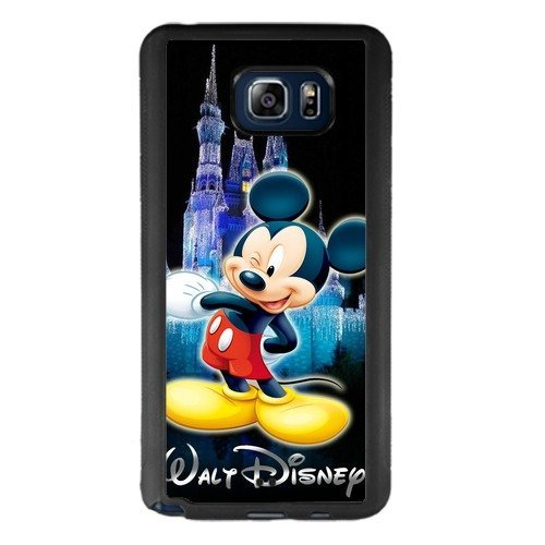 Mickey Mouse Samsung Galaxy Note 5 Case, Onelee [Never fade] Disney Mickey Mouse Samsung Galaxy Note 5 Black TPU and PC Case [Scratch proof] [Drop Protection]