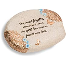 Light Your Way Pavilion Gift Company 19141 Forever in My Heart Memorial Stone, 6 X 2-1/2-Inch