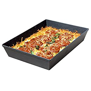 LloydPans Kitchenware 8 by 10 inch Detroit Style Pizza Pan USA Made Hard-Anodized