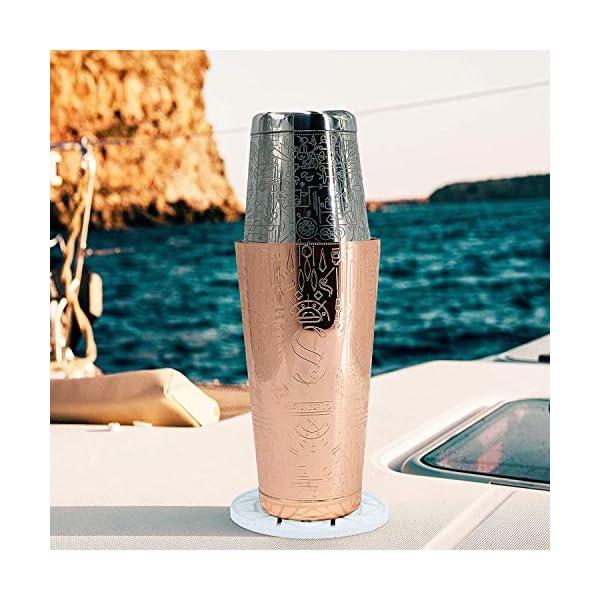 Esclusivo Cocktail Shaker Boston - Rame - Set Completo Professionale, Jigger di Precisione, 2 Sottobicchieri Versatili e… 6 spesavip