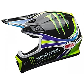 Bell Casco Moto Cross MX-9 MIPS Team Pro Circuit Monster Energy Replica 18.0 Gloss