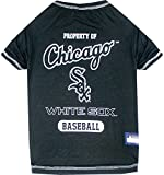 MLB CHICAGO WHITE SOX Dog T-Shirt, Medium. - Licensed Shirt for Pets Team Colored with Team Logos