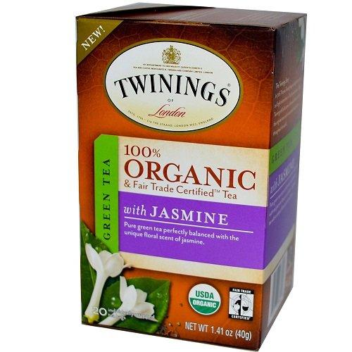 Twinings Organic Tea, Green Jasmine, 20 Count Bagged Tea (Fair Trade Organic Green Tea)