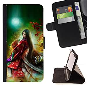 Jordan Colourful Shop - Asian Princess Wizard For Samsung Galaxy S6 - Leather Case Absorci???¡¯???€????€??????????&