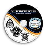 Military Army Navy Marines Patches Clipart-Vector