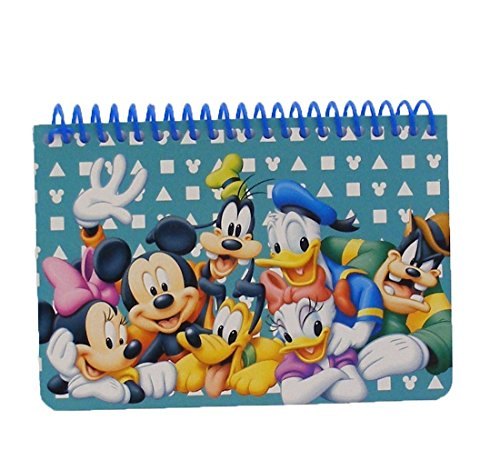 Disney Mickey Mouse and Friends Spiral Autograph Book - Teal by Goofy Mickey Donald