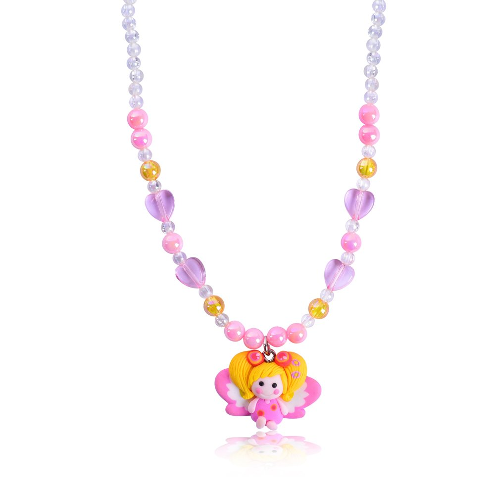 Kids Plastic Beads Necklace Designs Cute Baby Girls Jewelry Pendant Necklace