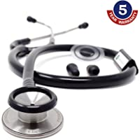 IndoSurgicals Silvery II-SS Stethoscope (Black)