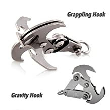 Gravity Hook - A High Performance Grappling Hook Multifunctional Stainless Steel Survival Folding Grappling Hook Climbing Claw Outdoor Gravity Carabiner for Your Outdoor Life