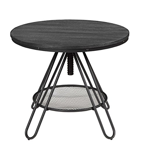 "Homelegance Cirrus 36"" Adjustable Round Counter Height Table, Black"