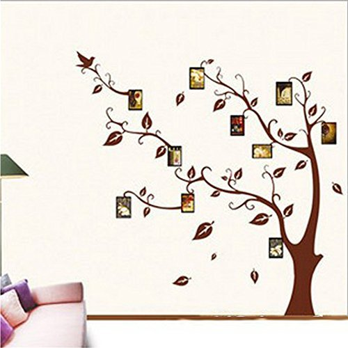 COFFLED Colorful PhotO Frame Memory Tree Wall Decal Stickers,Super Easy to Apply and Removable Wall Decoration (Blessings Decal Auto compare prices)