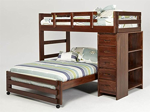 Chelsea Home Furniture 361550R Twin Over Full Loft Bed with