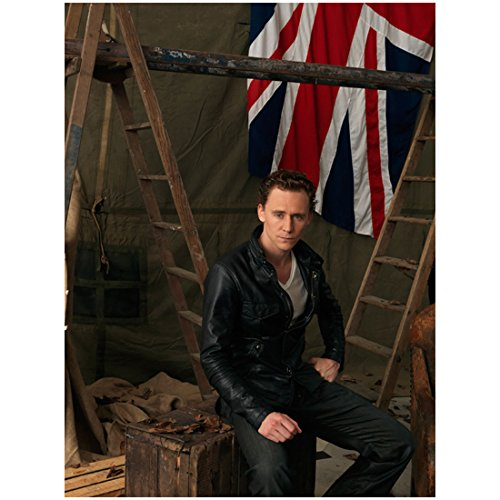 Munich 8x10 Photo (War Horse Tom Hiddleston as Capt. Nicholls Close Up by Flag 8 x 10 Photo)