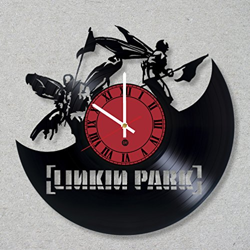 Bennington Clock (Vinyl Record Wall Clock Linkin Park Music Hybrid Rock Theory Bennington Numb Chester decor unique gift ideas for friends him her boys girls World Art Design)