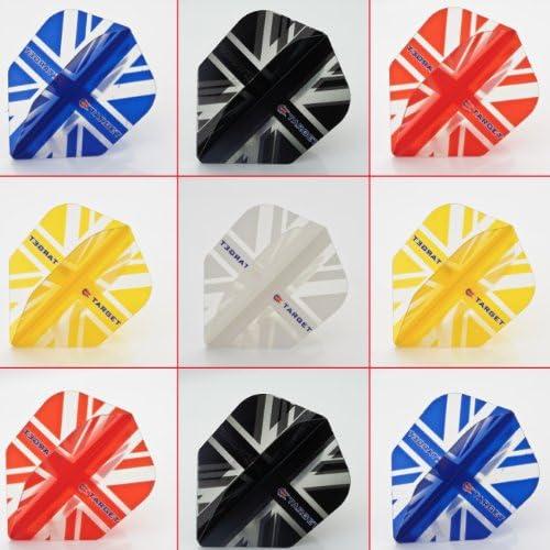 TARGET VISION TRANSLUCENT UNION JACK FLIGHTS Choose Colour /& Number of Sets