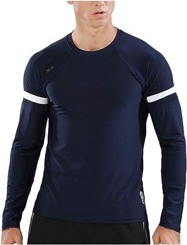 Camisas de Hombre Camisetas Pullover Suéter Cuello Redondo Aptitud Culturismo Secado Apretado Ropa Hombre Invierno: Amazon.es: Ropa y accesorios