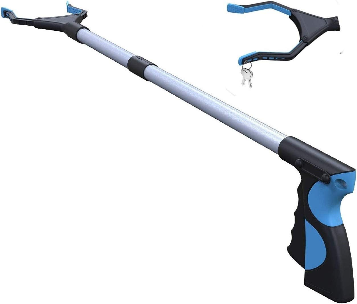 """Grabber Reacher Tool,FitPlus Grabber With Strong Magnet 32"""", 2 Year Warranty Extra Thick Steel Cable Grabber Reacher for Elderly, Lightweight Extra Long Handy Trash Picker Upper Claw Grabber: Health & Personal Care"""