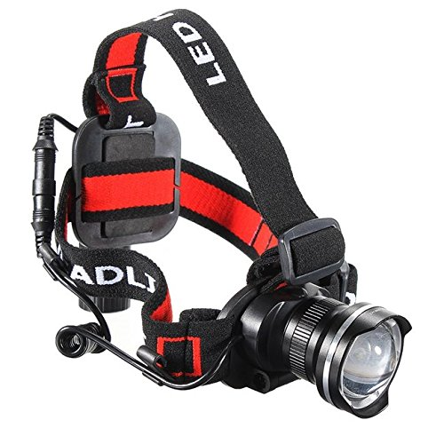 T6 LED 1600Lm Rechargeable Zoomable Bike Bicycle Headlight Headlamp ( Silver )
