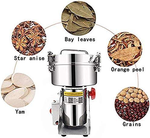 3000W Hochgeschwindigkeits Getreidem/ühle 1500g Edelstahl Kr/äuterm/ühle zum W/ürzen von Vanillekaffee-Maisgew/ürzen