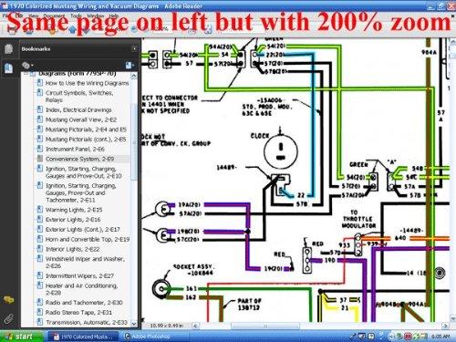 1970 colorized mustang wiring & vacuum diagrams: david e. leblanc, david e.  leblanc: 9781603710299: amazon.com: books  amazon.com