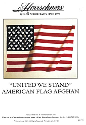 United We Stand Crochet American Flag Afghan One Crochet Pattern