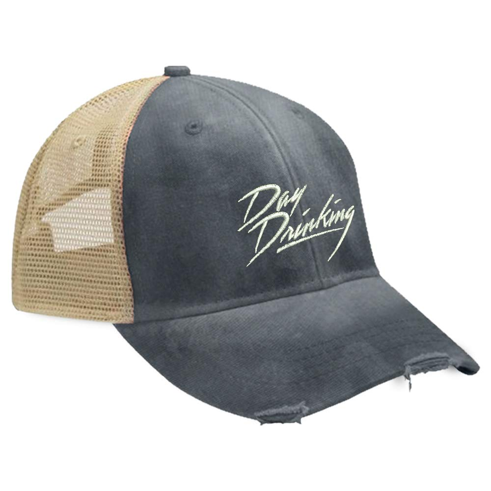 Piper Lou - Day Drinking Trucker Hat with Snapback Enclosure - Navy