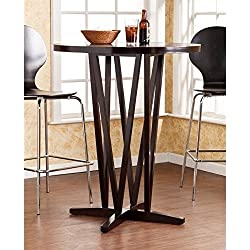 Southern Enterprises Devon Bar Table in Dark Espresso Finish