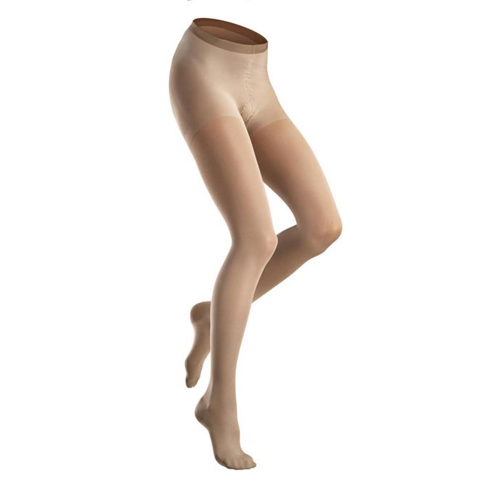 VenoSoft 20-30 mmHg Beige Plus Size Pantyhose Closed Toe Size: Large
