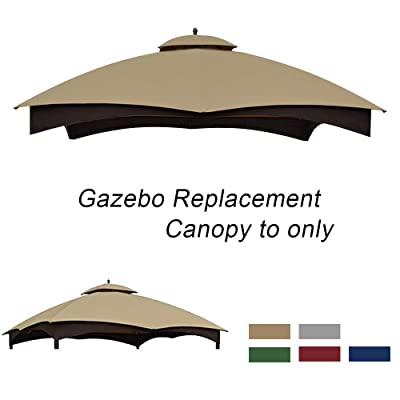 ABCCANOPY Gazebo Replacement Canopy 10'x12' for Lowe's 10' x 12' Gazebo Model #GF-12S004BTO/GF-12S004B-1(Beige): Garden & Outdoor