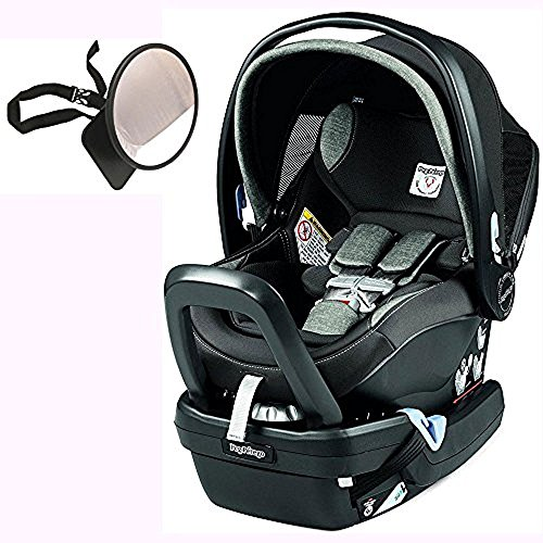 Peg Perego Primo Viaggio Nido Car Seat with Load Leg Base w/ Back Seat Mirror – Atmosphere