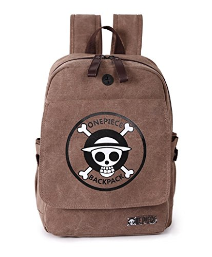 Wildforlife Anime One Piece Straw Hat Pirates Canvas Shool Bag Backpack