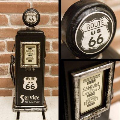 ガソリンポンプ 小物入れラック(小) 「ルート66」 B00B2GH2IE