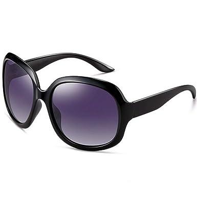 c514eb4e69 OYMI Oversized Women s Polarised Sunglasses Fashion Eyewear UV400 (Black)