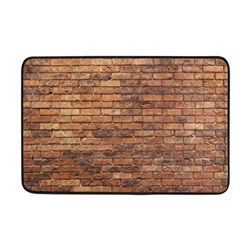 Jere Brick Wall Doormat for Home Decorative Floor Mat 23.6 x 15.7 Inch