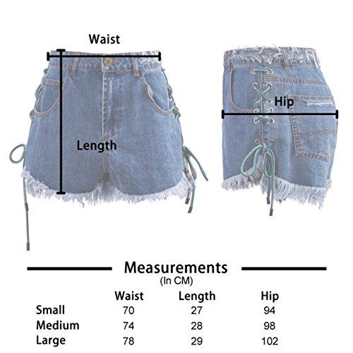 OcAuWerE Womens Casual Lace-up Tassel High Waist Denim Short Jeans by OcAuWerE (Image #6)