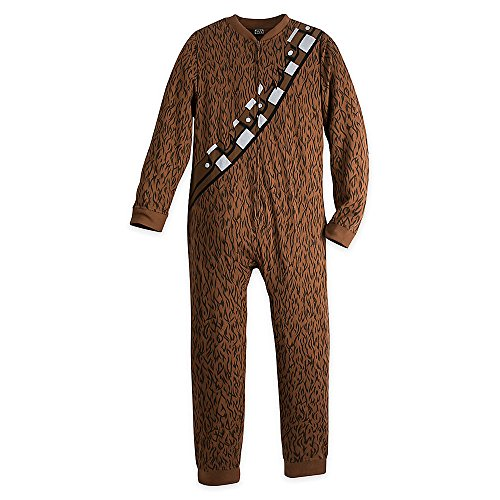 Leia Endor Costume (Star Wars Chewbacca Costume One-Piece PJ for Adults Size L)