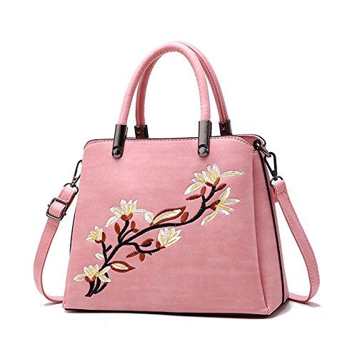 Bolsa Bolsa Vieja Rosa Dama GUANGMING77 Bolso Bordado Solo En Dama Pink qOSREa