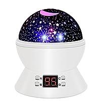 Star Sky Night Lamp, ANTEQI Baby Lights 360 grados en la habitación romántica Cosmos Proyector Star con temporizador LED de apagado automático, cable USB para dormitorio infantil, regalo de Navidad (blanco)