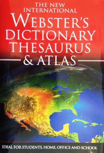 Websters Dictionary Thesaurus & Atlas Trident Travel Book