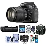 Nikon D810 DSLR with AF-S NIKKOR 24-120mm f/4G ED VR Lens - Bundle with MB-D12 Multi Battery Power Pack/Grip, 16GB SDHC Card, Camera Case, 77mm Filter Kit, Software Package and More