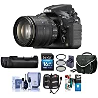 Nikon D810 DSLR with AF-S NIKKOR 24-120mm f/4G ED VR Lens - Bundle with Nikon MB-D12 Multi Battery Power Pack / Grip, 16GB SDHC Card, Camera Case, 77mm Filter Kit, Software Package and More