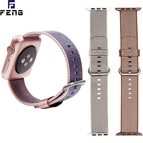 OTO Replacement Watch Strap Band ?Watch Band Strap Double Clasp Bracelet for Apple .New arrival. ((Gray,Midnight Blue,Coffee)42mm)